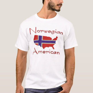 Norwegian American/USA Map T-Shirt