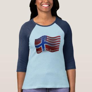 Norwegian-American Waving Flag T Shirts