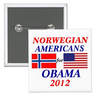 Norwegian americans for Obama 15 Cm Square Badge