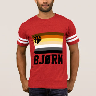 Norwegian(BJØRN) Gay Bear Pride Flag T-Shirt