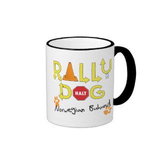 Norwegian Buhund Rally Dog Coffee Mugs