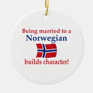 Norwegian Builds Character Round Ceramic Decoration