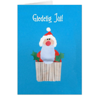 Norwegian Christmas 'Cupcake with Santa' Card