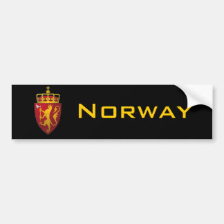 Norwegian Coat of Arms Bumper Sticker