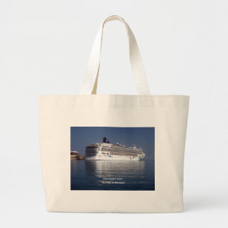 Norwegian Dawn in Bermuda Large Tote Bag