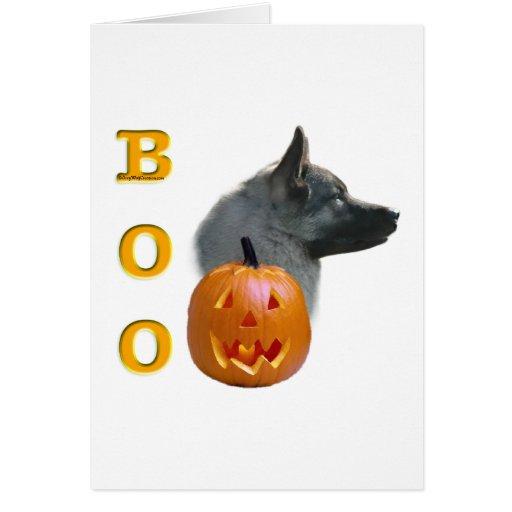 Norwegian Elkhound Boo Greeting Cards