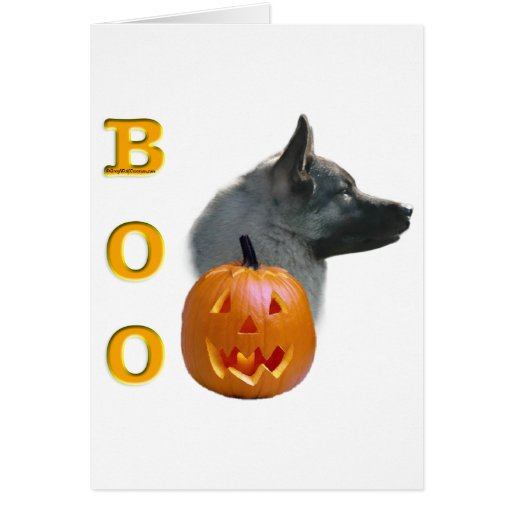 Norwegian Elkhound Boo Card