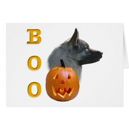 Norwegian Elkhound Boo Greeting Card