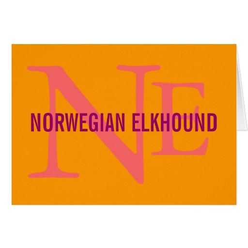 Norwegian Elkhound Breed Monogram Card