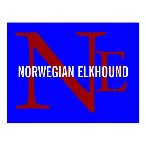 Norwegian Elkhound Breed Monogram Post Cards