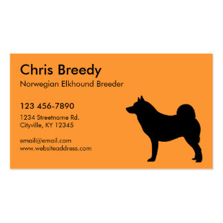Norwegian Elkhound Double-Sided Standard Business Cards (Pack Of 100)