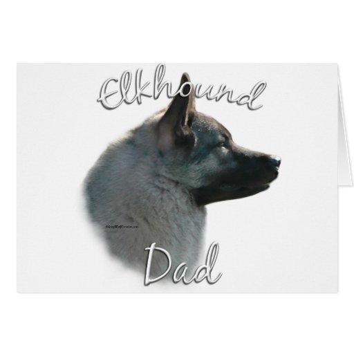 Norwegian Elkhound Dad 2 Greeting Card