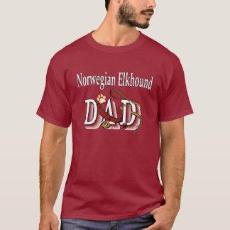 Norwegian Elkhound Dad Apparel T-Shirt
