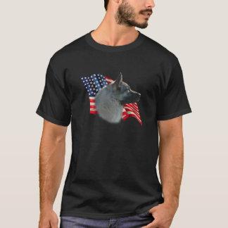 Norwegian Elkhound Flag T-Shirt