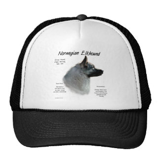 Norwegian Elkhound History Design Mesh Hat