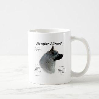 Norwegian Elkhound History Design Mugs