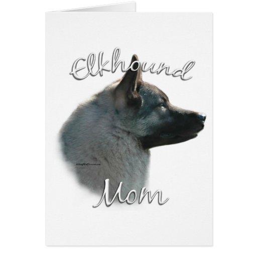 Norwegian Elkhound Mom 2 Greeting Card