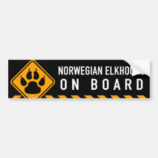 Norwegian Elkhound On Board Bumper Sticker