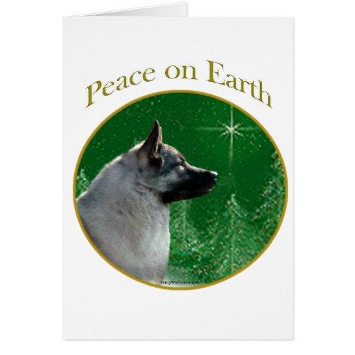 Norwegian Elkhound Peace Card
