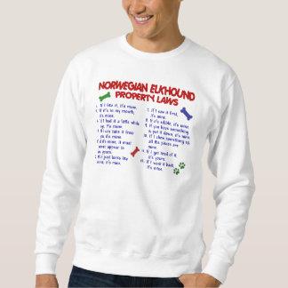 NORWEGIAN ELKHOUND Property Laws 2 Sweatshirt