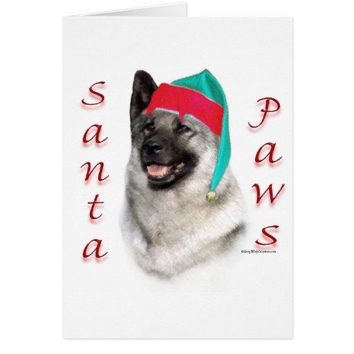 Norwegian Elkhound Santa Paws Cards