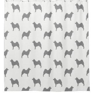 Norwegian Elkhound Silhouettes Pattern Shower Curtain