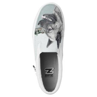 Norwegian Elkhound Slip-On Shoes