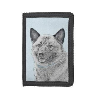 Norwegian Elkhound Tri-fold Wallets