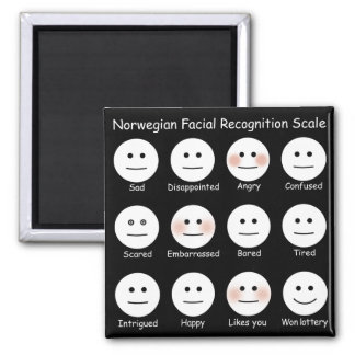 Norwegian Facial Recognition Scale Magnet
