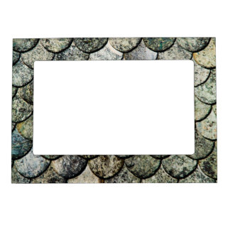 Norwegian Fish Scale Pattern Slate Roof Magnetic Frame