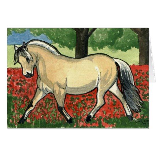 Norwegian Fjord HORSE ART Card