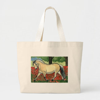 Norwegian Fjord HORSE ART Large Tote Bag