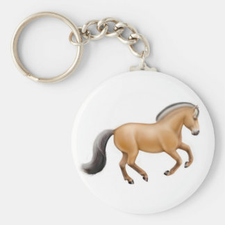 Norwegian Fjord Horse Keychain