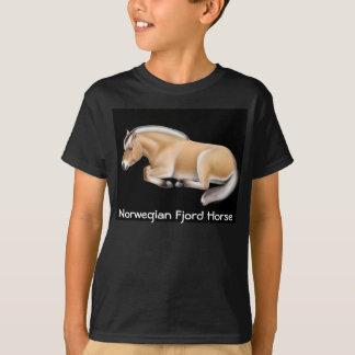Norwegian Fjord Horse Kids Dark T-Shirt