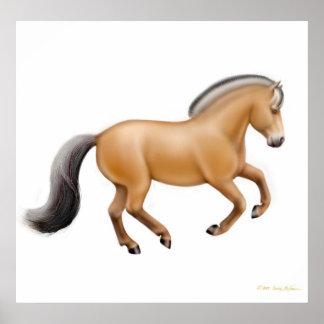 Norwegian Fjord Horse Print