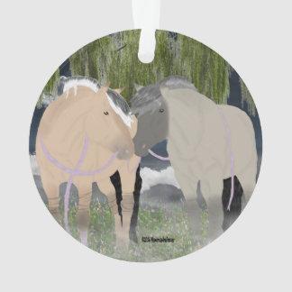 Norwegian Fjord Horses Ornament