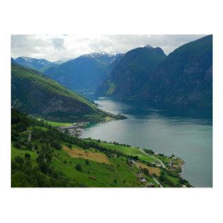 Norwegian Fjord Postcard