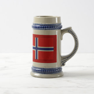 Norwegian Flag Beer Stein