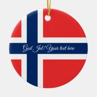 norwegian flag god jul christmas tree ornament - Norwegian Christmas Decorations