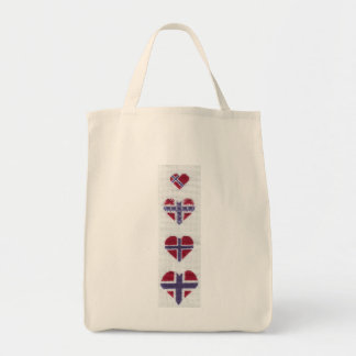 Norwegian Flag Heart Cross Stitch Nordic Norway Hj Bags