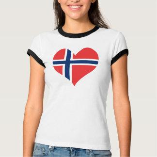 Norwegian Flag Heart T-Shirt