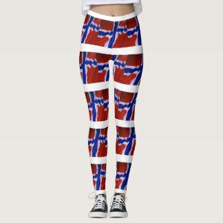 NORWEGIAN FLAG LEGGINGS
