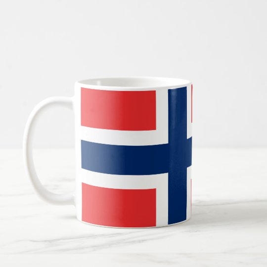 Norwegian flag mug