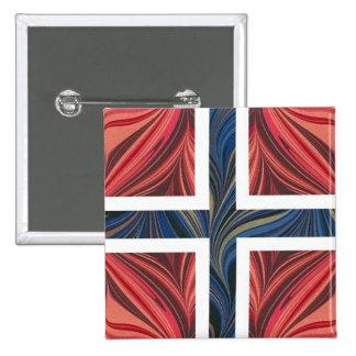 Norwegian Flag Norway Nordic Scandinavian Cross No 15 Cm Square Badge