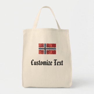 Norwegian Flag Norway Nordic Scandinavian Cross No Tote Bag