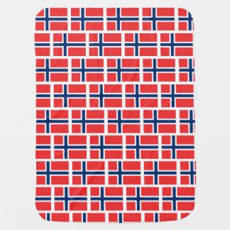 Norwegian flag of Norway custom baby blanket