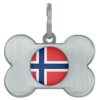 Norwegian Flag Pet Name Tag