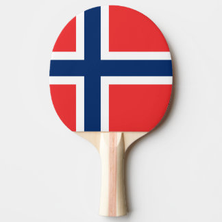 Norwegian flag ping pong paddle