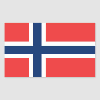 Norwegian Flag Rectangular Sticker