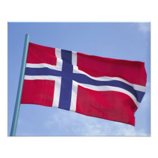 Norwegian flag RF) Photo Print